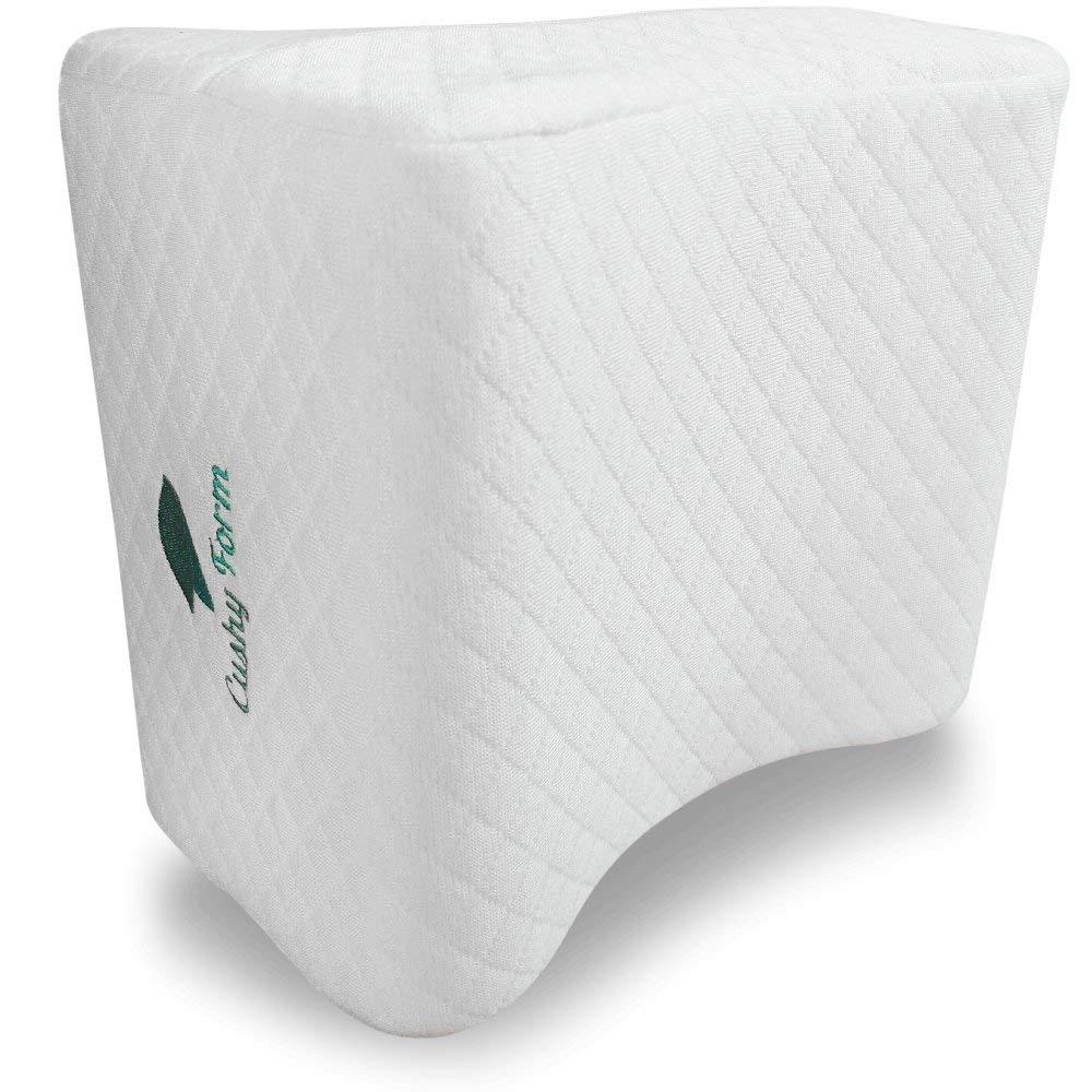 Cushy Form Knee Pillow Memory Foam For Side & Back Sleepers