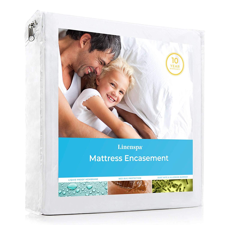 LINENSPA Zippered Encasement Bed Bug Proof Mattress Protector