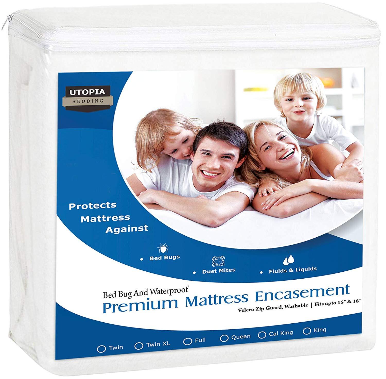 Utopia Bedding Premium Zippered Waterproof Mattress Protector